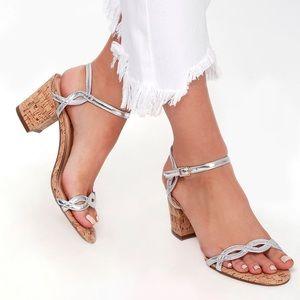 Lulus Silver & Cork Heels